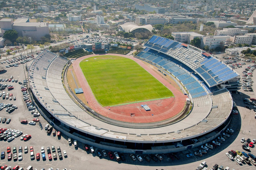 Vista aérea del Estadio Tec