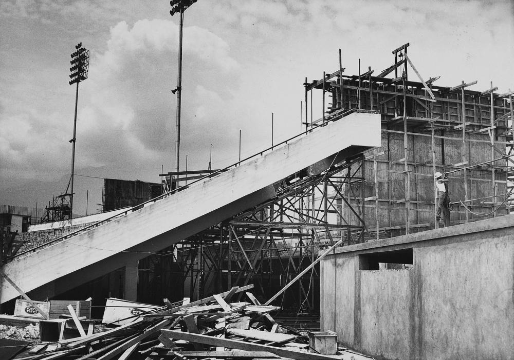 Estadio Tec en construcción