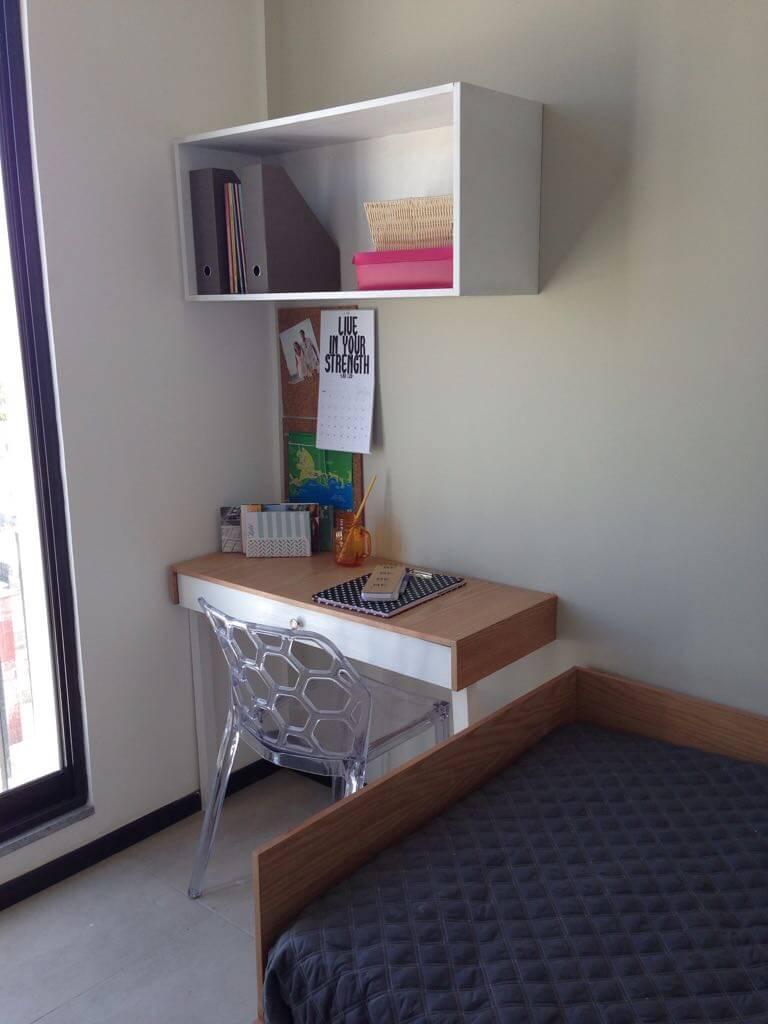 Interior habitación departamento en Semillero Dos